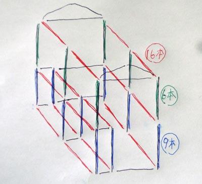 ビニール温室の組み立て図面
