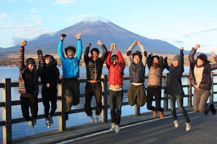 pas山中湖富士山ジャンプ