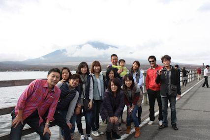 pas山中湖富士山曇り集合
