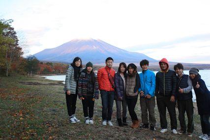 pas山中湖富士山朝