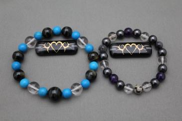数珠ブレスレット用ガラスプレート