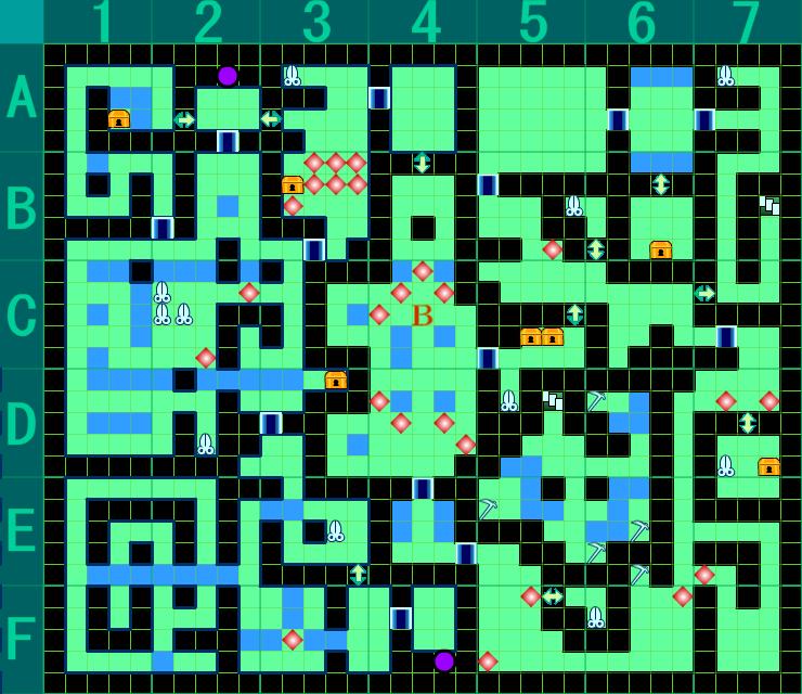 金剛獣ノ岩窟 B3F 完全版 マップ