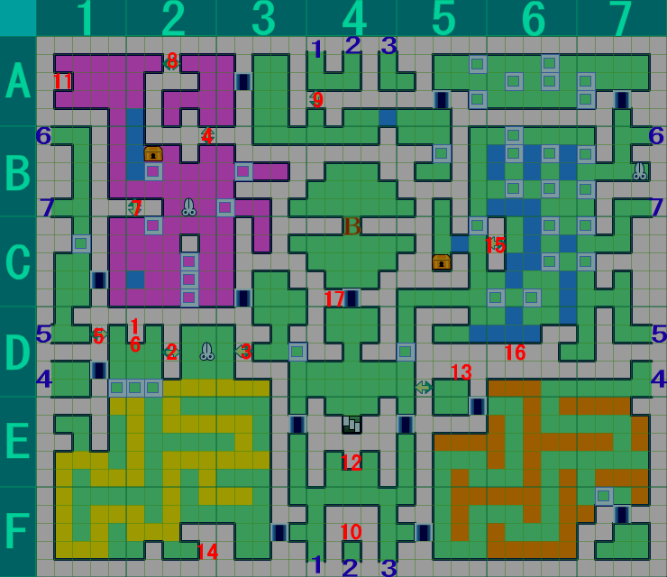 世界樹の迷宮IV 暗国ノ殿 B3F 攻略ルート