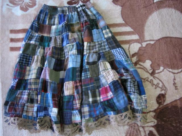 パッチワークのスカートだよ♪