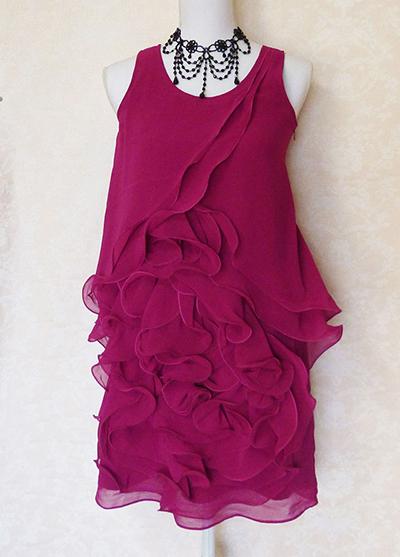 花びらのような美シルエットワンピースドレス-マゼンタ-フォーマル-結婚式-パーティーなどに最適15-p-01