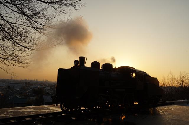 C56 129の煙と朝のひと時