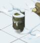 雪中のゴミ箱
