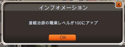 盾100になりました