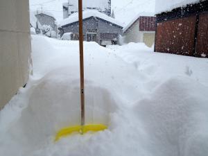 積雪60センチ