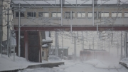 朝里駅発車