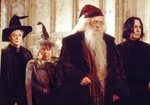 McGonagall,Sprout,Dumbledore,Snape