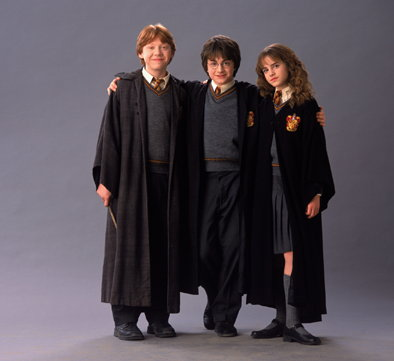 Harry Potter, Ron Weasley,Hermione Granger