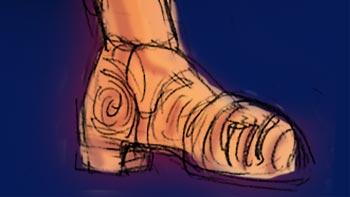 靴が印象的