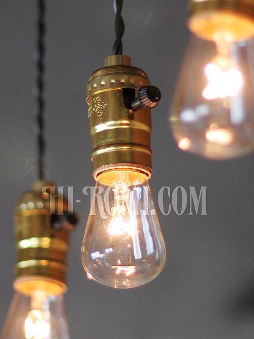 LEVITON社製ターン式アルミ製GoldソケットペンダントライトA/工業系ランプ照明/店舗設計・スチームパンク・施工・設計・計画・建築