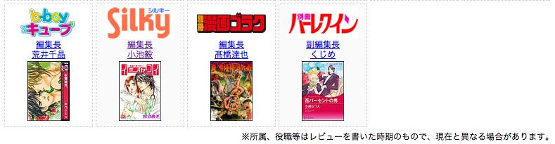 漫画雑誌編集長88人