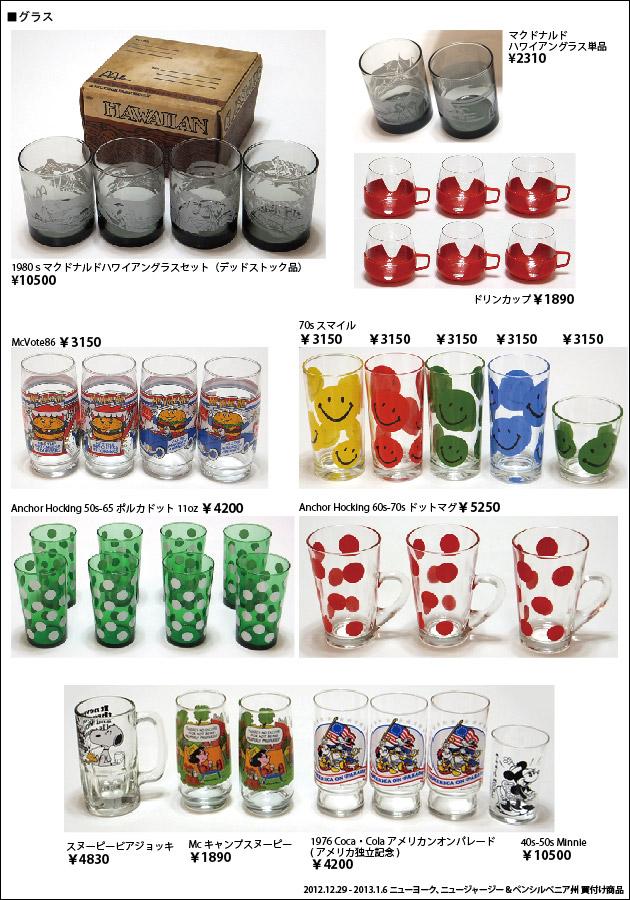 201301 アメリカ買付商品 キャラクターグラス マクドナルド スマイル