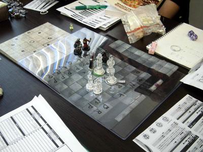 チェスの駒との戦い