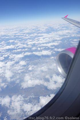 ピーチアビエーション、関西-那覇線の機窓