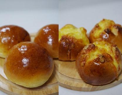 体験レッスンで焼く丸パンとチーズパン