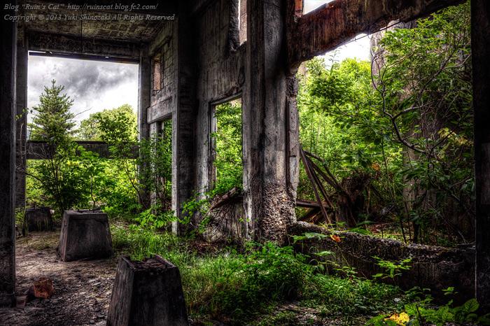 松尾鉱山ボイラー施設跡