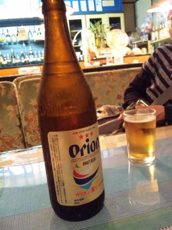 安里屋:オリオン瓶ビール