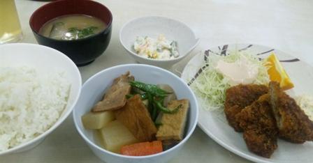 あさひ食堂:白身魚のフライ定食
