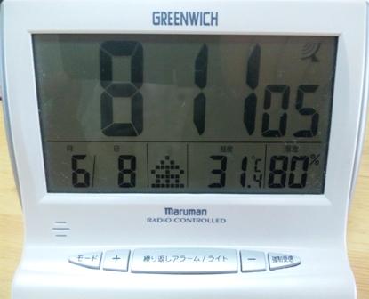 6月8日室温、湿度