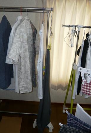 除湿:洗濯物