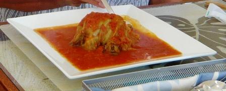ハイタイドカフェ:石垣牛のロールキャベツトマトソース