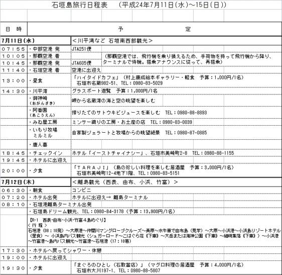 村井夫妻日程表1