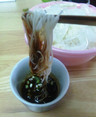 そうめん:酢味噌3
