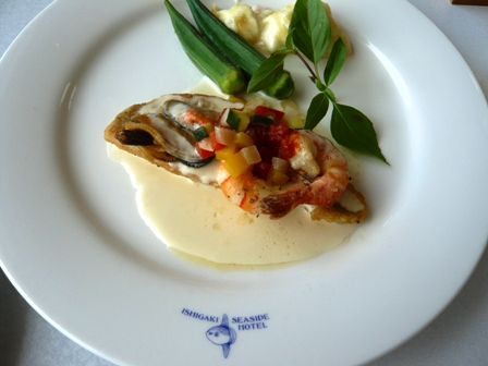 石垣シーサイドホテル:MORA MORA;魚料理セット