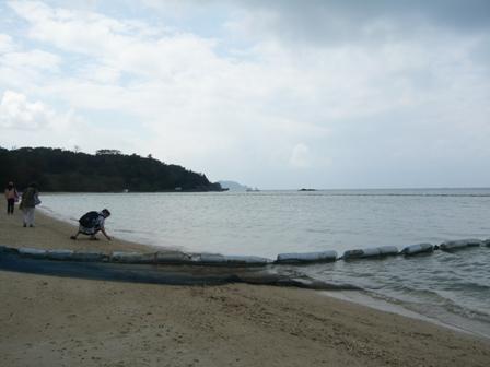 底地ビーチ:クラゲ防止ネット