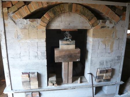 太朗窯:新しい窯;工事中