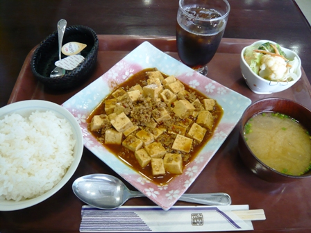 喫茶むりぶし:麻婆豆腐ランチ