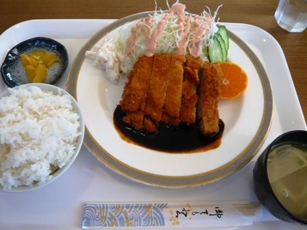 五升庵:チキンカツ定食