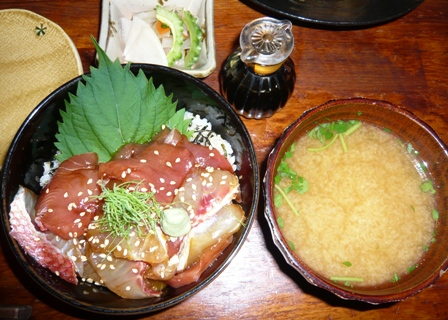 近海魚の海鮮丼