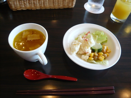 かりゆし倶楽部ホテル石垣島:アマンダ;スープ、サラダ