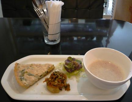 ポコアポコ:玄米と野菜のキッシュプレート