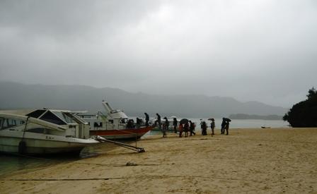 二男石垣旅行:川平湾グラスボート1