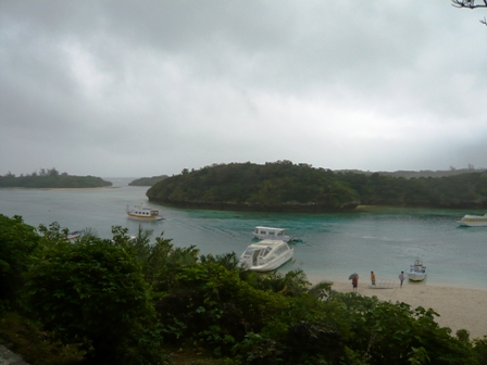 二男石垣旅行:川平湾グラスボート2