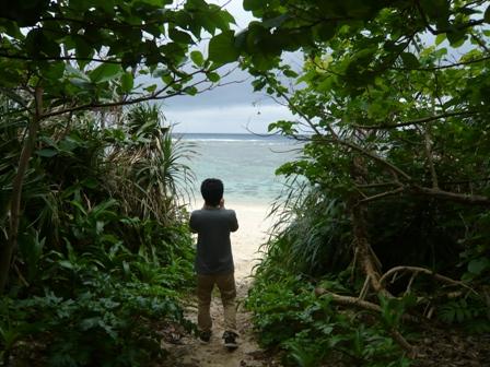 二男石垣旅行:米原ビーチ1