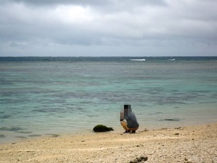 二男石垣旅行:米原ビーチ2