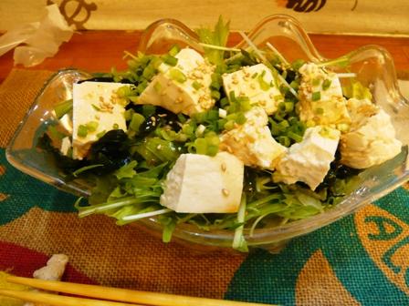 LOCO331:島豆腐とわかめのヘルシーサラダ