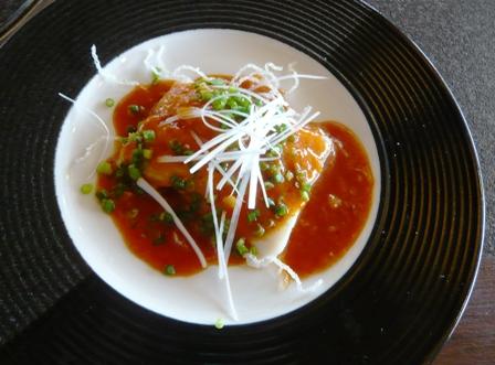 琉華:白身魚のチリソース
