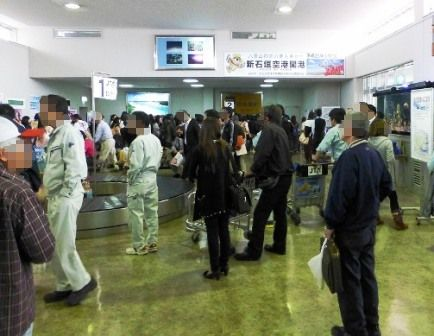 3月6日の旧石垣空港:到着ロビー
