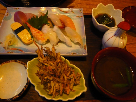 琉球割烹ダイニング司:寿司定食
