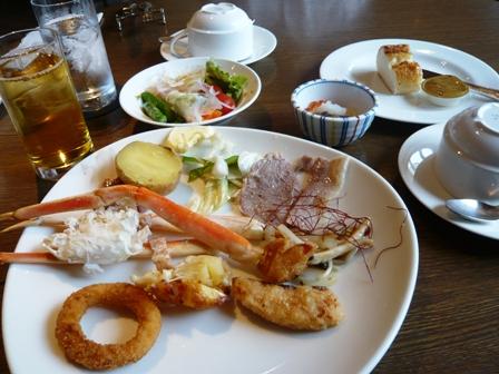 サンコーストカフェ:ビュッフェ料理1