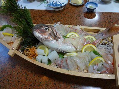 鯛の舟盛り