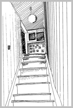 二階の部屋に・・・